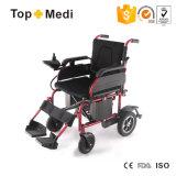 Topmedi modificó el sillón de ruedas plegable eléctrico accionado de la silla para requisitos particulares de rueda de la potencia