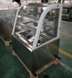 Showcase curvado do refrigerador/bolo da pastelaria/gabinete indicador da padaria (RL750A-S2)