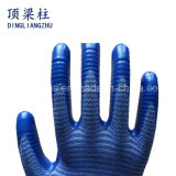 13 Handschoen van de Veiligheid van de Polyester van de Strepen van de maat de Gestreepte met Met een laag bedekt Nitril