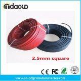 câble d'alimentation de TUV et d'UL d'homologation noire ou rouge de câble solaire de 5m 2.5mm2 14AWG pour Mc4/Mc3