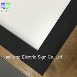 Moldura de alumínio Moldura de menu Placa de luz com folha de acrílico Quadro de quadro LED