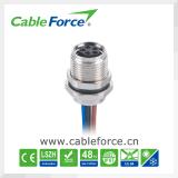 センサーのためのM8コネクター5 Pinの男性の直角の形成されたケーブルおよびセリウムの証明との物品取扱い
