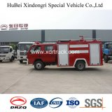 Camion dei vigili del fuoco di Dongfeng 3ton con il serbatoio esposto