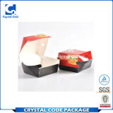 주문 Foldable 간이 식품 포장 햄버거 종이상자