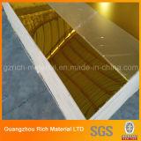 hoja de acrílico de oro del plástico del espejo de 1220*1830*1.0m m