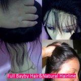 Form-Jungfrau-brasilianisches Menschenhaar Glueless volle Spitze-Perücke-Haarpflegemittel