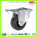 Schwarzer Gummi-örtlich festgelegtes Platten-Fußrollen-Rad (D102-31C080X35)