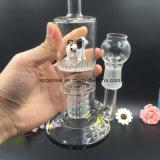 Tubulação de água do vidro de Borosilicate para fumar