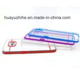 Caja móvil transparente del teléfono celular del último diseño TPU +PC