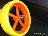 Teste padrão República da Coreia do talão 3.50-5 rodas do plutônio do Wheelbarrow