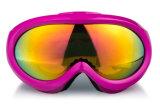 L'anti obiettivo del PC di effetto rispecchiato scherza gli occhiali di protezione di snowboard