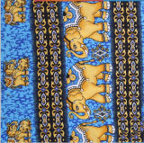 Tela de rayon impressa da venda elefante quente da fábrica de matéria têxtil