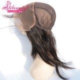 Großhandelsbrasilianisches Haar-Spitze-Stirnbein der Jungfrau-13X4 mit Schutzkappe