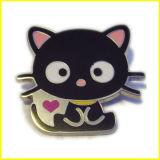 高品質によってエナメルを塗られる黒猫Pin