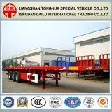De Ctsm 3 d'essieux du lit plat 40FT de conteneur de transport remorque semi