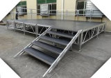 Étape en aluminium de mobilier amovible d'étape d'étape portative de qualité supérieur
