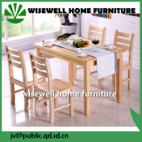 의자 (W-DF-9050)를 식사하는 4PC를 가진 소나무 가구 식탁