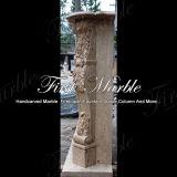 Camino di pietra di marmo Mfp-1123 del calcio dell'oggetto d'antiquariato del camino del granito