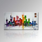Pintura al óleo moderna de Home Decoration Wall Art Abstract Palette Knife en Canvas (XD1-302)
