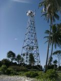 4 다리가 있는 직류 전기를 통한 가드 탑