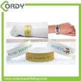 Wristband elegante del PVC RFID de la aduana da alta temperatura para el hospital