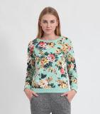 Maglietta felpata francese stampata floreale poli delle donne/del cotone Terry (OEM/WHOLESALE)