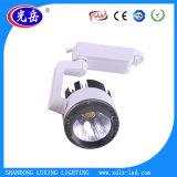 2 años de garantía negro / blanco COB LED Track Light Ra> 75 Pista LED Luz del punto
