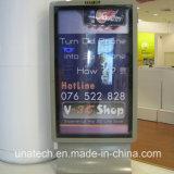 Cartelera posterior del rectángulo ligero del movimiento en sentido vertical LED del papel de la película de los media de publicidad del almacén del supermercado de la prueba del agua