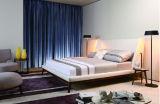 Bâti moderne MB1203 de type de vente de chambre à coucher de tissu blanc chaud de meubles