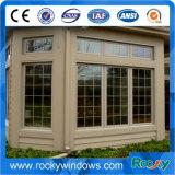 Doppeltes glasig-glänzendes Aluminiumflügelfenster-Fenster mit Querbalken