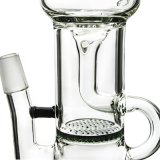 Verbogenes Stutzen-Huka-Glas-rauchende Wasser-Rohre mit Klein Recycler (ES-GB-342)