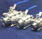 Food Grade IndustryのためのSs304 Pneumatic Triclamp Ball Valve