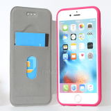 Cajas de cuero de lujo del teléfono del lichí TPU para el iPhone 6