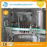 Terminar a linha de produção de enchimento da cerveja