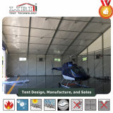 Tienda del hangar con la pared y la puerta de aluminio del ABS de la cubierta de la azotea del PVC del marco