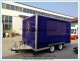 Reboque móvel do alimento da restauração do caminhão móvel rápido do alimento da rua da cozinha do alimento da entrega