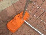 La clôture provisoire lambrisse la bride de pied de panneaux de la norme As4687-2007 de 2100mm x de 2400mm et le système complet