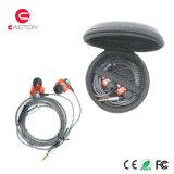 O estéreo ostenta fones de ouvido da caixa do metal de Earbuds com cancelamento do ruído