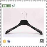 Kleid-Verbrauch-Schwarz-Plastikkleidung-Aufhängungen, Goldplastikaufhängung