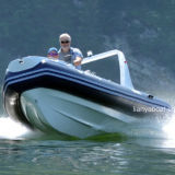 Liya 17 'Inflável Dinghy Tender 10 Persons Navy Boats