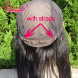 Frontal brésilien en gros de lacet de cheveu de Vierge de la qualité 13X4 avec le chapeau
