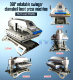 Оборудование передачи тепла давления машины давления жары Clamshell свингера высокое
