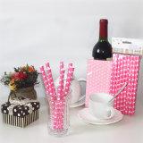 パーティの記念品の甘いピンクの中心の環境に優しい飲むわら