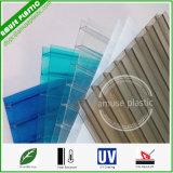 Strato di plastica della cavità del PC del policarbonato della parete del cristallo due del materiale da costruzione