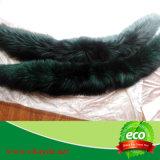 Cappuccio lungo nero di lusso del cappotto di pelliccia di Fox con la punta di Gree