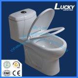 Cabinet d'aisance en céramique articles sanitaires chanceux de marque de Jx-6# de premiers/toilette d'une seule pièce de qualité avec le certificat de la CE
