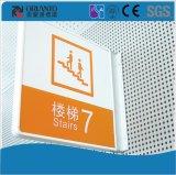 Index de fabrication en aluminium de construction de peinture signe fixé au mur