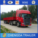 Side Guardの3車軸Flatbed Container Semi Trailer