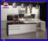 純粋で白く高い光沢のある食器棚(ZH096)