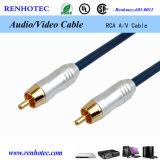 Câble Assemby du câble audio vidéo RCA de qualité